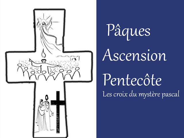 Caté . Pâques, Ascension, Pentecôte avec les croix du mystère Pascal