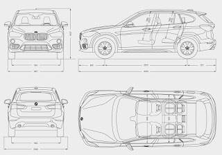 Dimensioni nuova BMW X1 2015 2016