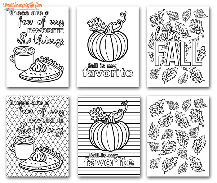 Fall Coloring Page Printables