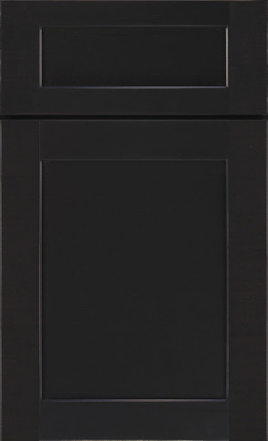 Black Shaker Style Cabinet called Montgomery from Diamond Cabinet Line :: OrganizingMadeFun.com