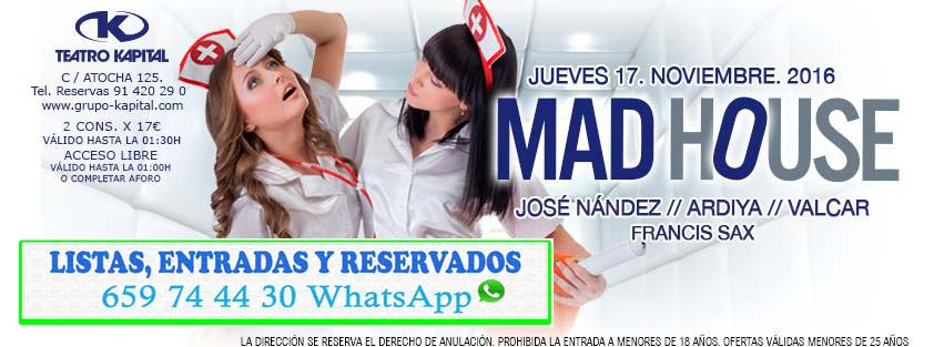 Discoteca Kapital Madrid 659 744 430 Whatsapp Flyer