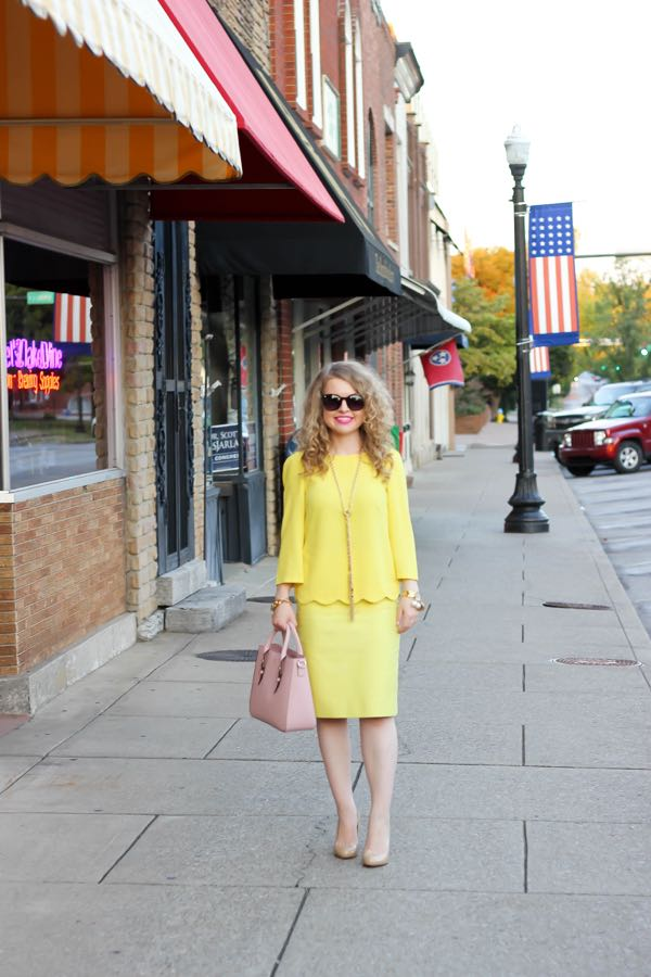 J. Crew Yellow Skirt, Lawyer Fashion
