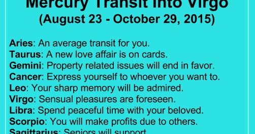 AstroSage Magazine: Mercury Transit Into Virgo Today - Know Your Future