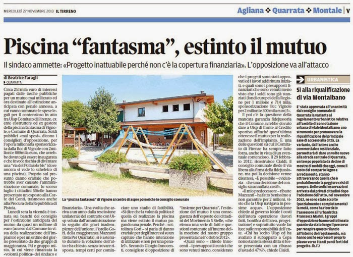 QUARRATAnews  QUOTIDIANO ON LINE ARCHIVIATA LA PISCINA