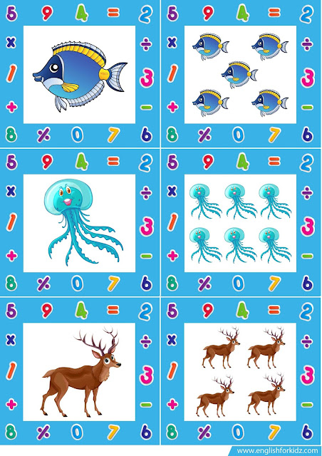 Irregular plural noun flash cards
