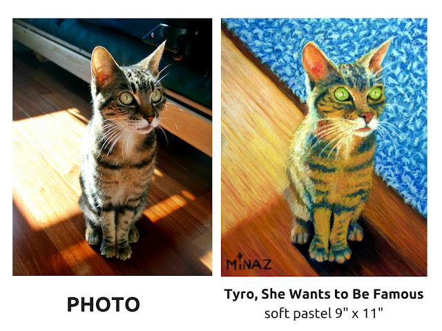 Pet Portraits: She Wants to Be Famous by Minaz Jantz
