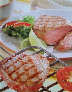 Grillowany tuńczyk z sosem majonezowym