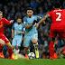 Con un gol del Kun Agüero, Manchester City empató ante Liverpool