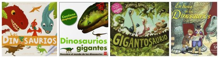 selección libros infantiles y cuentos sobre dinosaurios