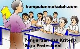Pengertian dan Kriteria Guru Profesional