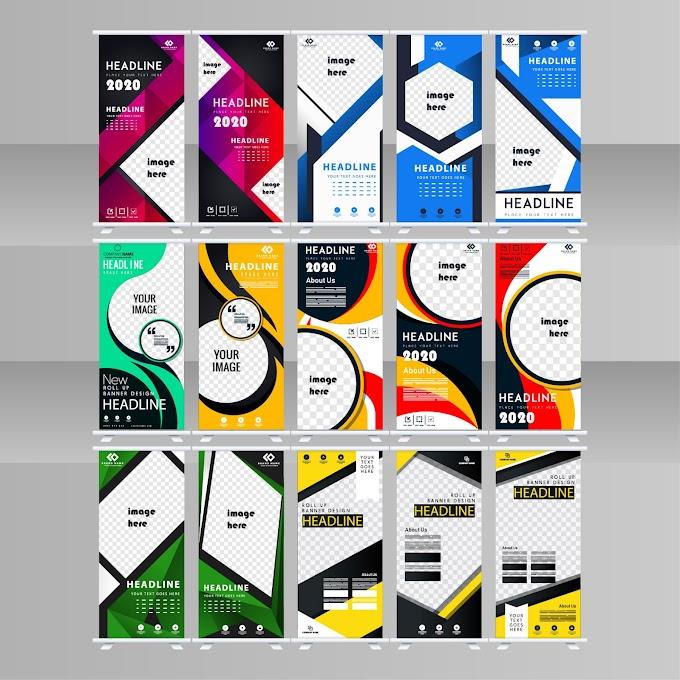 corporate brochure templates modern colorful flat decor free vector