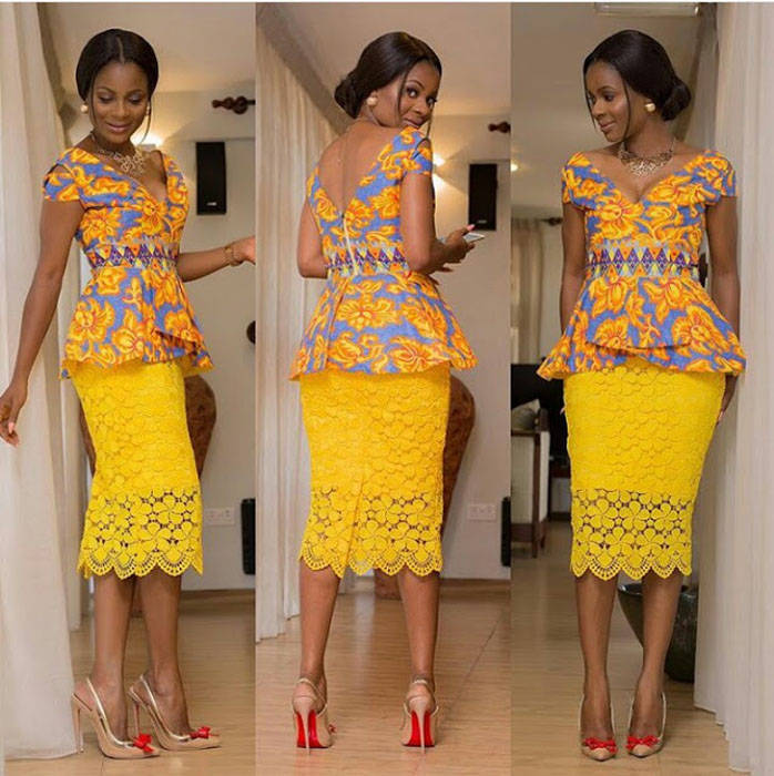 Peplum ankara skirt and blouse styles (1)