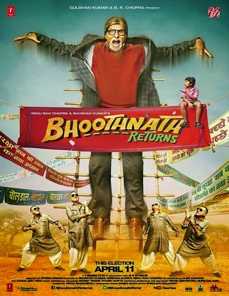 Bhoothnath Returns 2014 720p BrRip 500MB HEVC, Bhoothnath Returns 2014 hindi BrRip Bluray 720p hd hevc small size movie BrRip 400MB HEVC free download or watch online at world4ufree.be