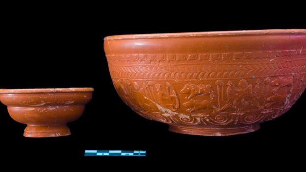 Roman artefacts unearthed by roadworks in UK