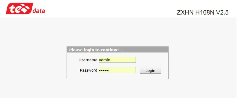 تغيير باسورد وإعدادات الراوتر 192.168 ll tedata وتسجيل الدخول