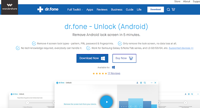 Dr. Fone Android Unlock Screen Software : Exclusive Review