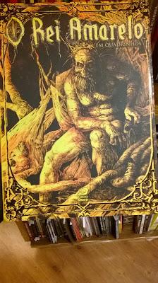 O Rei Amarelo nas prateleiras da Livraria Cultura do Conjunto Nacional São Paulo