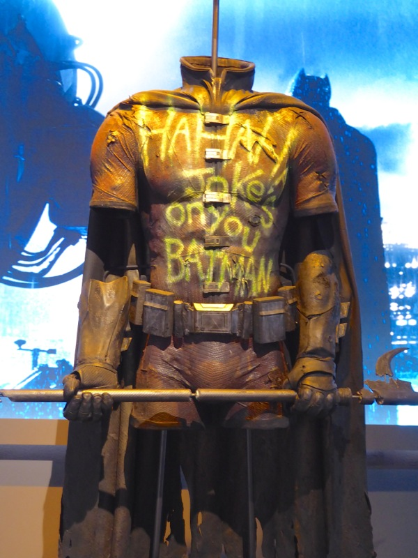 Graffitied Robin costume Batman v Superman Dawn of Justice