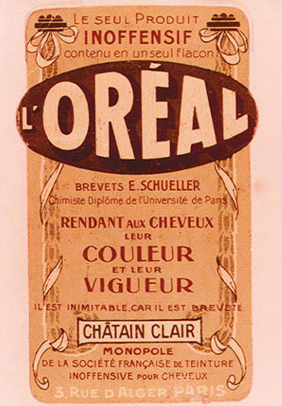 L'Oréal ad 1909
