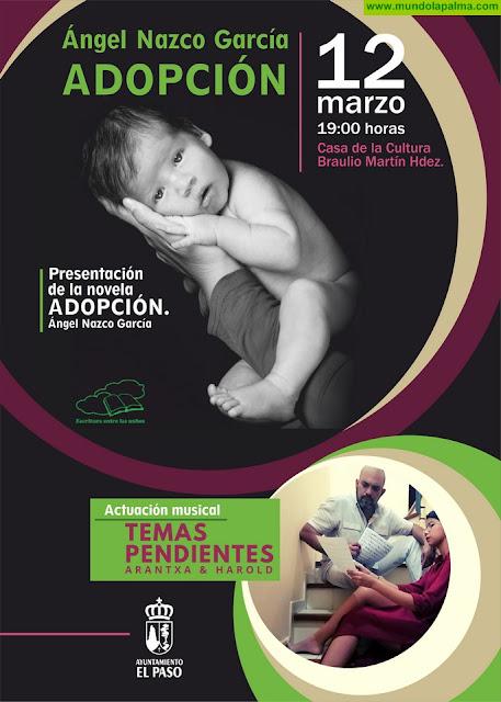 """""""Adopción"""", la nueva novela de Ángel Nazco, se presenta el jueves 12 de marzo en El Paso"""