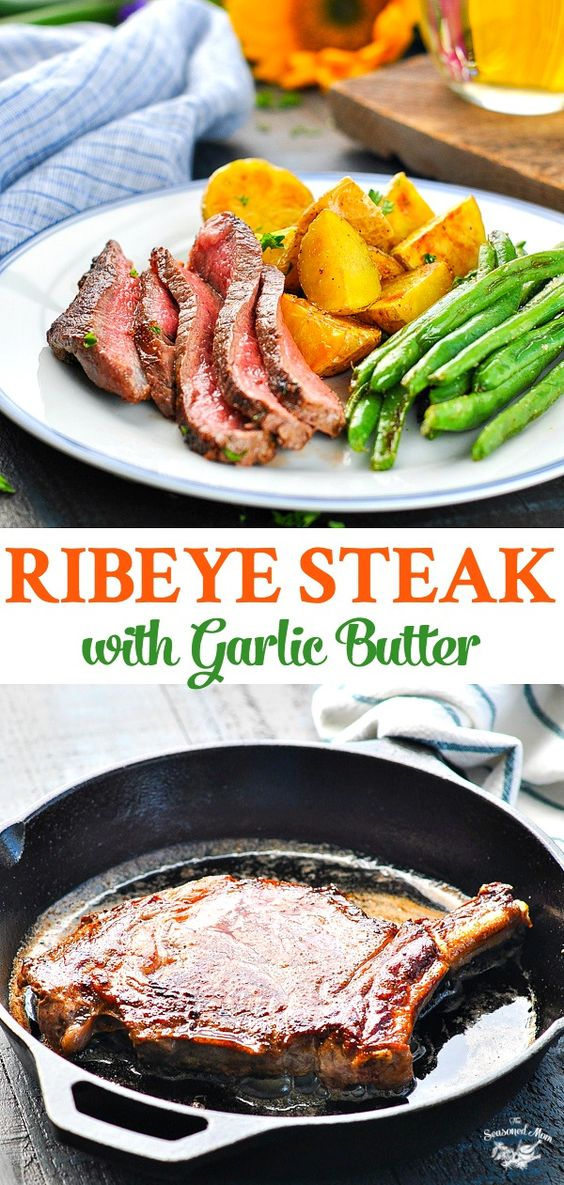 RIBEYE STEAK WITH ROASTED POTATOES & GREEN BEANS