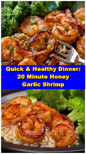 Quick & Healthy Dinner 20 Minute Honey Garlic Shrimp