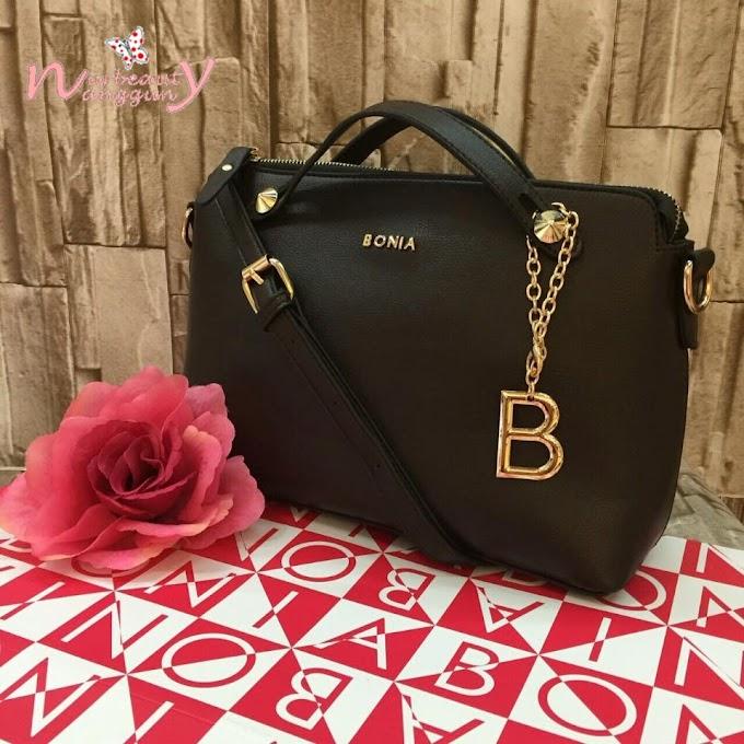 Bonia Handbag With B Pendant