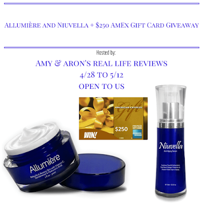 Enter the Allumière and Niuvella / AmEx Gift Card Giveaway. Ends 5/12