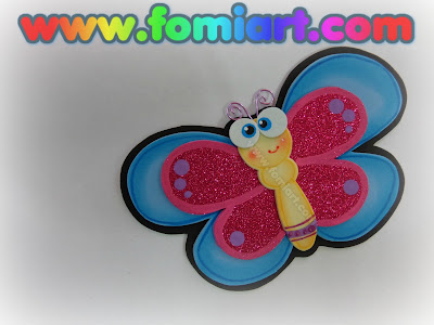 Mariposas en foamy