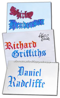 ozdabianie kopert, pisanie listu do gwiazdy