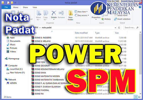 Nota Padat POWER SPM Subjek Kimia