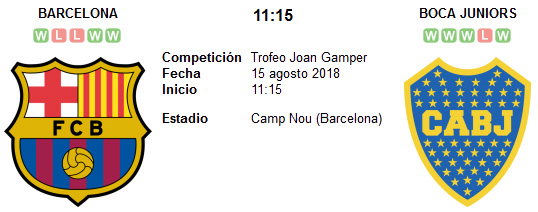 Barcelona vs Boca Juniors en VIVO