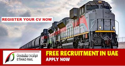 Etihad Rail Job Vacancies in UAE