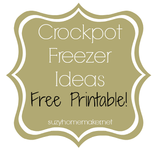 Crock pot freezer meals - suzyhomemaker.net