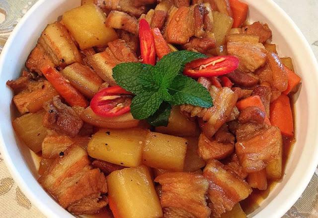 Cách nấu thịt heo kho củ cải trắng ngon dễ làm