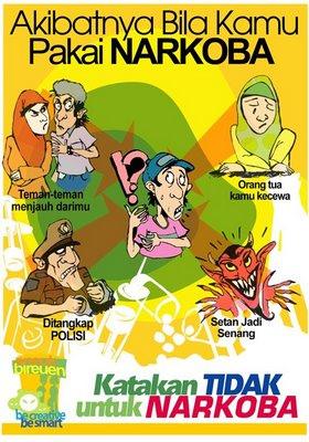 "Contoh poster pendidikan ""Anti Narkoba"". Sumber: pinterest.com"