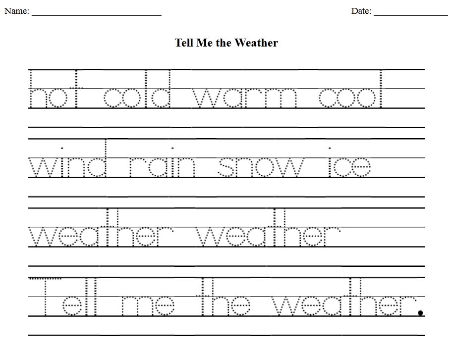 The Homeschool Voyager: Keeping a Weather Record