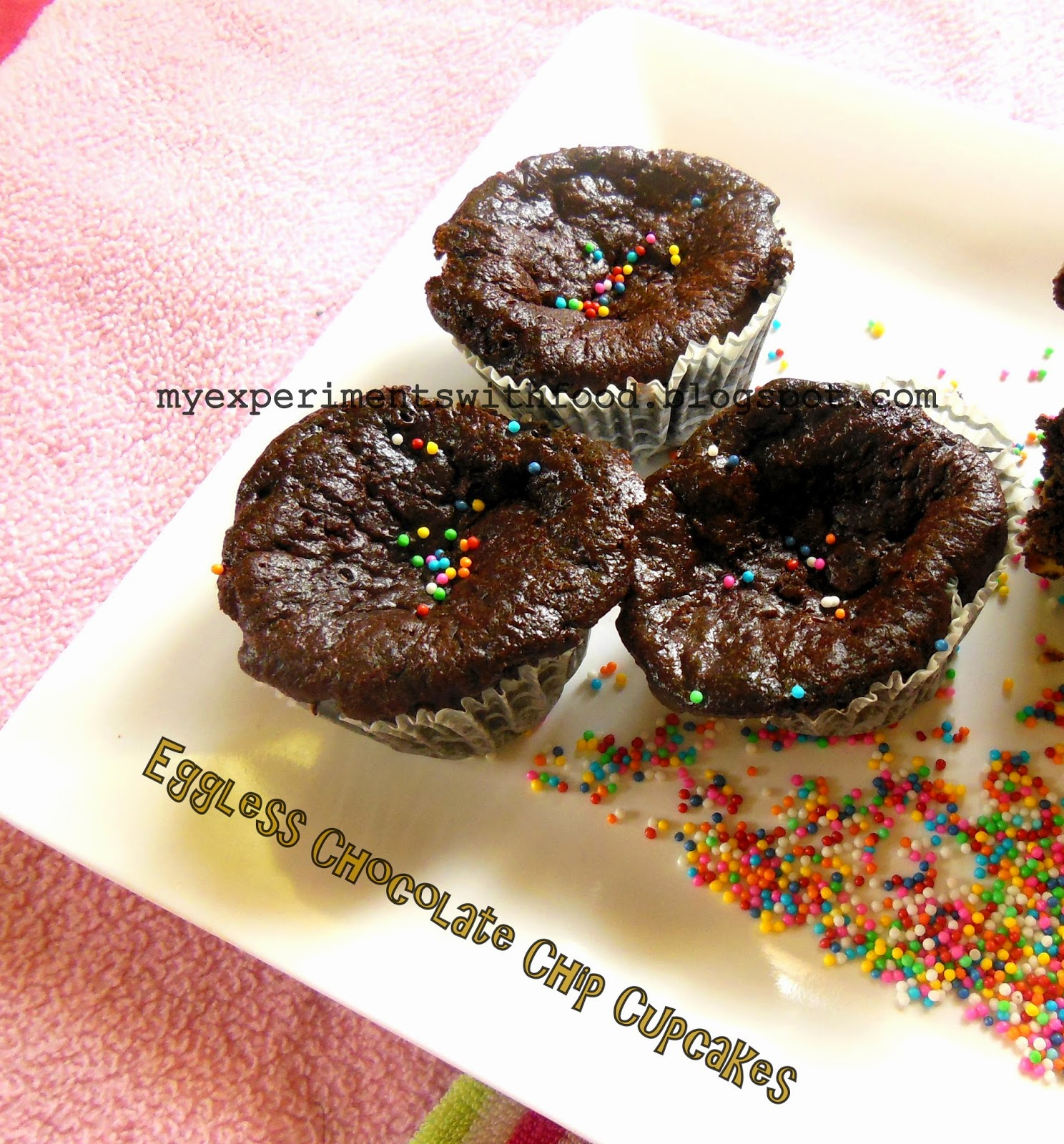 My Experiments With Food: Eggless Chocolate Cupcakes using ...