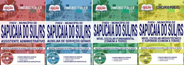 apostilas concurso Fundação Hospitalar Getúlio Vargas – FHGV