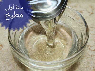الشربات الثقيل للحلويات الشرقية مثل الكنافة و بلح الشام و صوابع زينب