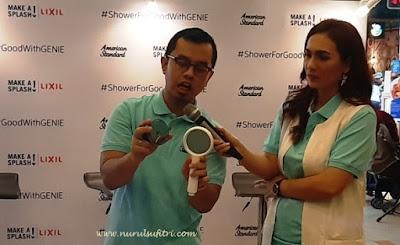 mandi bersih segar dan menyenangkan bersama genie hand shower dari american standard lixil water technology nurul sufitri mom lifestyle blogger health review