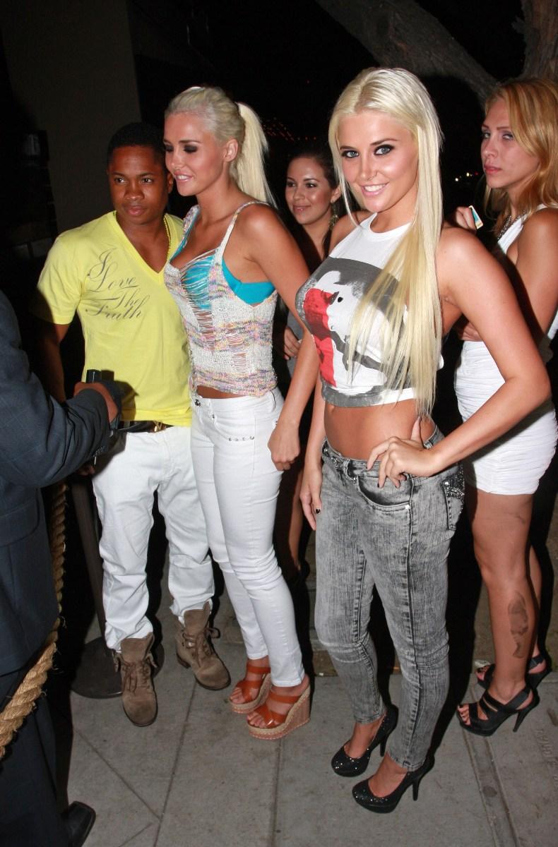 Hugh Hefner, Shannon Twins Celebrate Playboy Spread - The