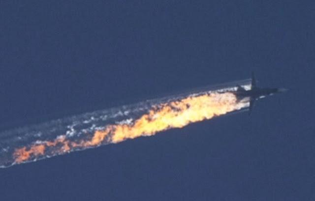El ejercito turco derrivó un avión ruso Su_24