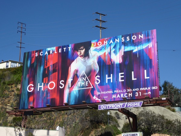 Ghost in the Shell movie billboard