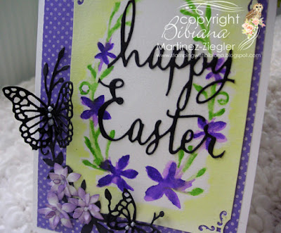 dies as stencils color with watercolors detail purple card