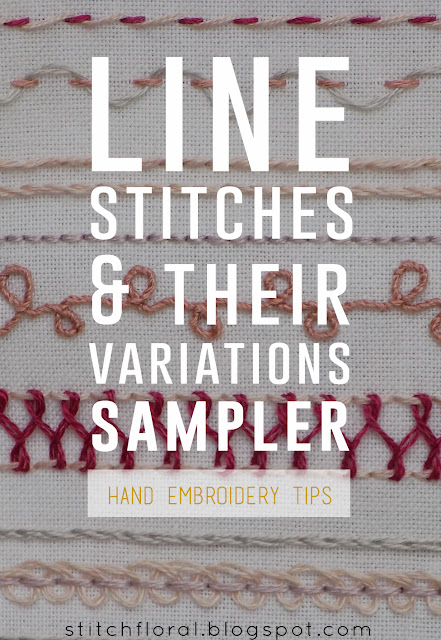 Line stitches and their variations: sampler