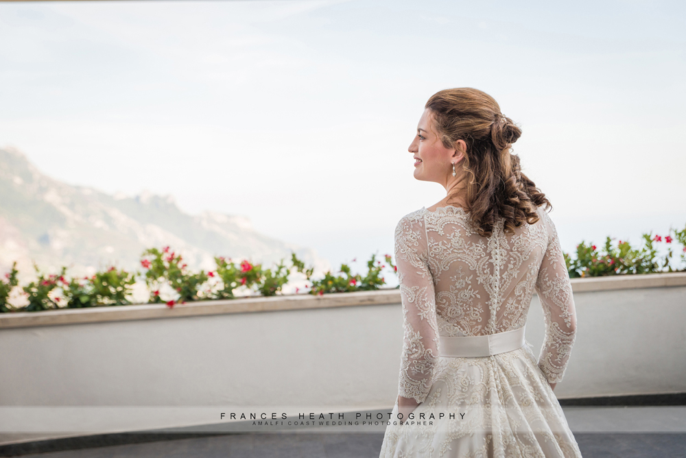 Bride at Villa Fraulo in Ravello