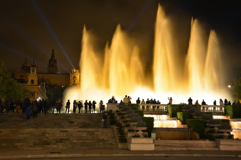 Barcelona by night Magic Fountains