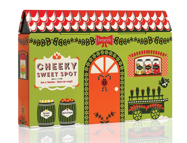 Benefit Cheeky Sweet Spot Box o' Powder Blush Palette Holiday 2014