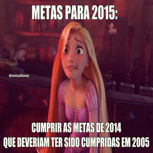 Metas para 2015 Cumprir as metas de 2014